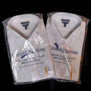 Croft & Barrow 2xl wrinkle resistant white shirts